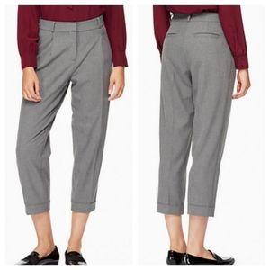 Kate Spade Broome Street Cuffed Trouser Gray 6